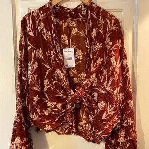 Free People Azalea Printed Kimono